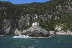 Lichnos strand Parga Grekland Arkivfoton