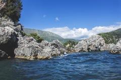Lichnos strand Parga Grekland Royaltyfria Bilder