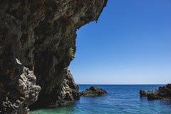 Lichnos strand Parga Grekland Arkivfoto