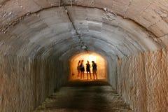 Licht aan het eind van de tunnel royalty-vrije stock afbeeldingen