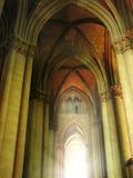 Licht aan het eind van tunnel Stock Afbeelding