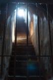 Licht aan het eind van tunnel Stock Foto's