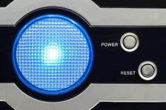 Licht auf dem Computerkasten Lizenzfreies Stockbild