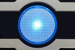 Licht auf dem Computerkasten Stockfoto