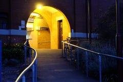 Licht auf Station Stockbild