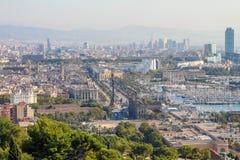Licht Barcelonas morgens Lizenzfreie Stockfotos