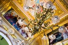 Licht bij het Operahuis in Lviv Royalty-vrije Stock Foto
