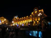 Licht bij nacht Stock Afbeelding