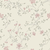 Licht bloemen uitstekend naadloos patroon Stock Foto's