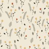 Licht bloemen uitstekend naadloos patroon Stock Afbeeldingen