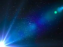 Licht boonzonlicht in de ruimte Royalty-vrije Stock Fotografie