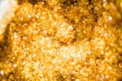 Licht Citroengeel Kwarts Crystal Cluster stock fotografie
