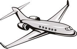 Licht commercieel vliegtuig stock illustratie