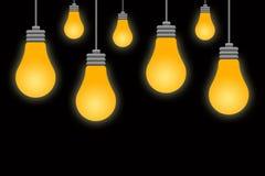 Licht in dark Royalty-vrije Stock Afbeeldingen
