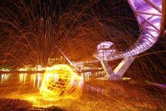 Licht in Darul Hana Bridge Royalty-vrije Stock Fotografie