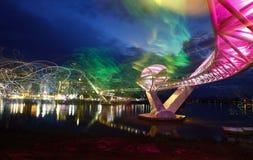 Licht in Darul Hana Bridge Royalty-vrije Stock Foto