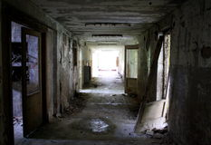 Licht in de tunnel Stock Foto