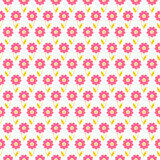 Licht de zomer naadloos patroon Dierbaar wit roze, Royalty-vrije Stock Foto