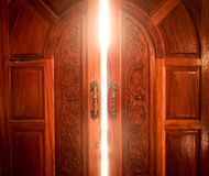 Licht der offenen Tür Stockbilder