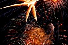 Licht des Feuerwerks Stockfotos