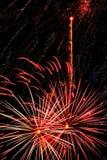 Licht des Feuerwerks Lizenzfreies Stockfoto