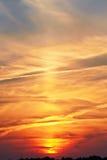 Licht des Sonnenuntergangs lizenzfreie stockfotografie
