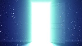 Licht en deeltjes in een ruimte stock illustratie