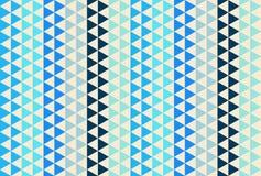 Licht en donkerblauw driehoekspatroon Naadloze vectorachtergrond Royalty-vrije Stock Afbeeldingen