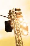 Licht en doos Stock Foto's