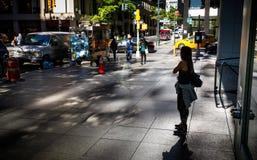 Licht en schaduwen op het Ave van Lexington in NYC Royalty-vrije Stock Foto's