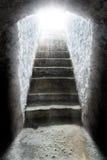Licht am Ende des Tunnels Stockbild