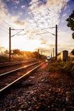 Licht am Ende des Tunnels Stockfotos