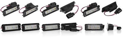 Licht führte Birnen für Autolampen Auto geführt für Haloringe und -engel Lizenzfreie Stockbilder