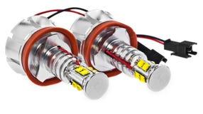Licht führte Birnen für Autolampen Auto geführt für Haloringe und -engel Stockbilder