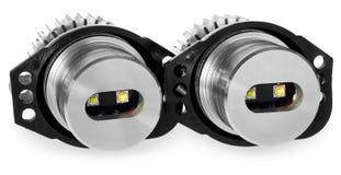 Licht führte Birnen für Autolampen Auto geführt für Haloringe und -engel Lizenzfreie Stockfotos