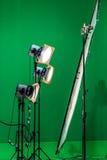 Licht am Farbenreinheitsschlüssel Stockfotografie