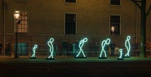 Licht festival in Amsterdam stock afbeeldingen