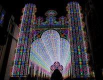 Licht Festival, Gent stock afbeelding
