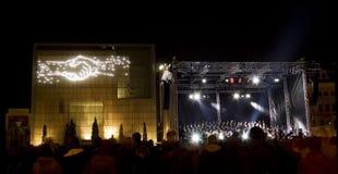 Licht Festival in Leipzig, 9 Oktober 2009 Stock Fotografie