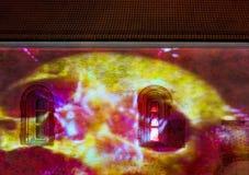 Licht festival in middeleeuwse stad van Riga Royalty-vrije Stock Foto