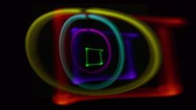 Licht gemalte Formen stock video footage