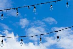 Licht glas met hemel Stock Fotografie