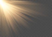 Licht gloed speciaal effect met stralen van lichte en magische fonkelingen Reeks van het gloed schittert de transparante vector l stock illustratie