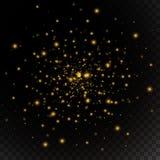 Licht gouden gloed speciaal effect Vector illustratie Stock Foto