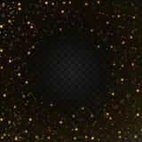 Licht gouden gloed speciaal effect Vector illustratie Stock Fotografie