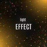 Licht gouden gloed speciaal effect Vector illustratie Royalty-vrije Stock Fotografie