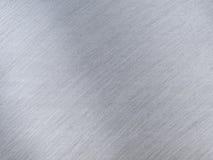 Licht Grey Metal Textures met Bezinningsstrepen Stock Afbeelding