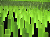 Licht haftet abstraktes Feld Stockfotografie