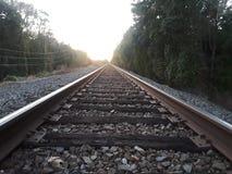 Licht in het eind van de tunnel stock afbeelding