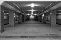 Licht in het eind van een tunnel Stock Foto